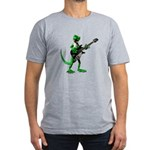 Electric Guitar Gecko Men's Fitted T-Shirt (dark)