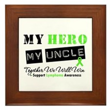 Lymphoma Hero Uncle Framed Tile