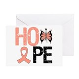 Endometrial Cancer Hope Greeting Card