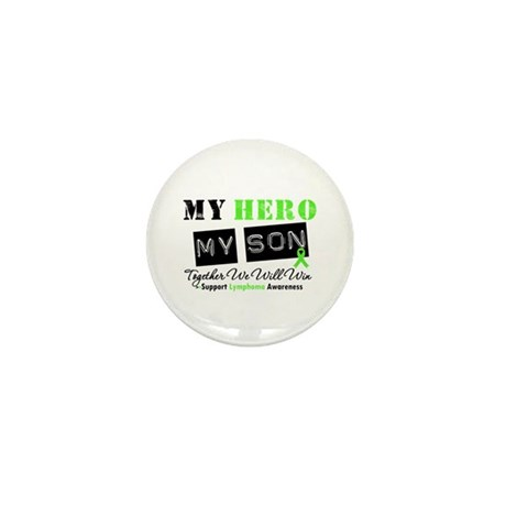 Lymphoma Hero Son Mini Button (10 pack)