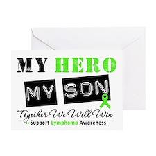 Lymphoma Hero Son Greeting Card