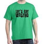 Let's Get Wasted Green T-Shirt