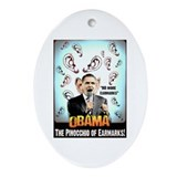 anti obama earmarks Oval Ornament