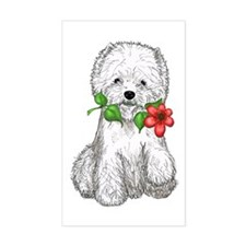 Westie with Flower Decal