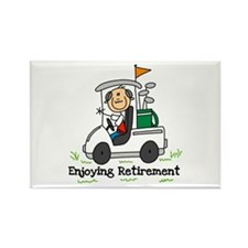 Retired and Golfing Rectangle Magnet (100 pack)