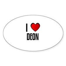 I LOVE DEON Oval Decal