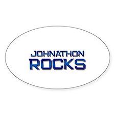 johnathon rocks Oval Decal