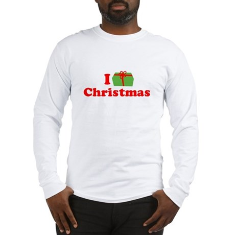 I Love [Present] Christmas Long Sleeve T-Shirt