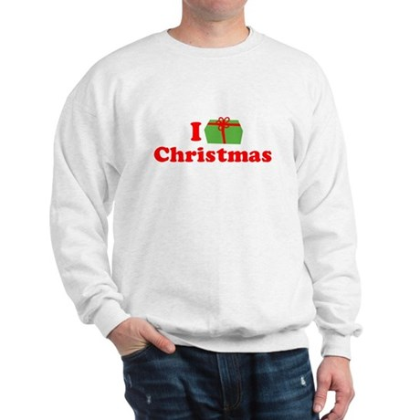 I Love [Present] Christmas Sweatshirt