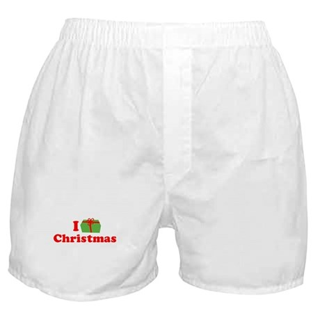 I Love [Present] Christmas Boxer Shorts