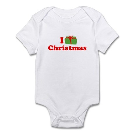 I Love [Present] Christmas Infant Creeper