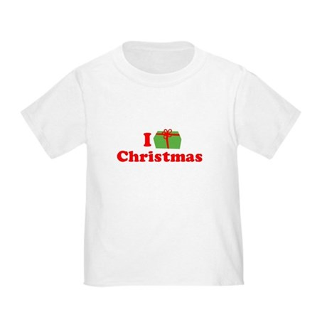 I Love [Present] Christmas Toddler T-Shirt