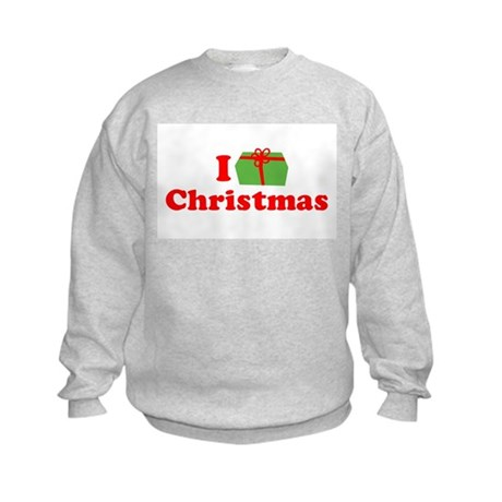 I Love [Present] Christmas Kids Sweatshirt
