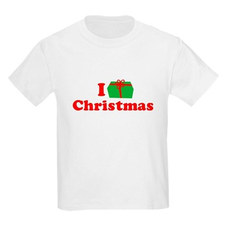 I Love [Present] Christmas Kids T-Shirt
