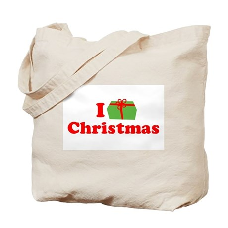 I Love [Present] Christmas Tote Bag