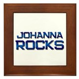 johanna rocks Framed Tile