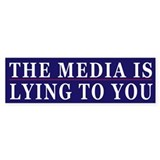 Controlled Mass Media Humor Bumper Sticker