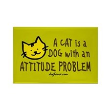 Cat Attitude Rectangle Magnet (100 pack)
