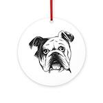 English Bulldog Ornament (Round)