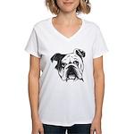 English Bulldog Women's V-Neck T-Shirt