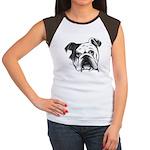 English Bulldog Women's Cap Sleeve T-Shirt