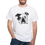 English Bulldog White T-Shirt