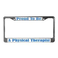 Proud Physical Therapist License Frame