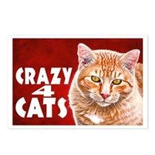Crazy 4 Cats Painting Postcards (Package of 8)