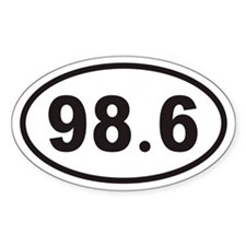 98.6 Euro Oval Decal