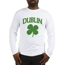 Dublin Irish Shamrock Long Sleeve T-Shirt