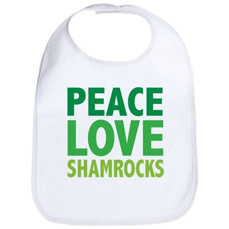Peace Love Shamrocks Bib