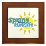 Spring Break (sun) Framed Tile