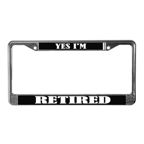 Funny Retired License Plate Frame