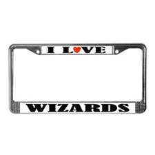 I Love Wizards License Plate Frame