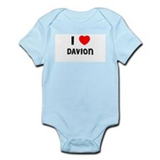 I LOVE DAVION Infant Creeper