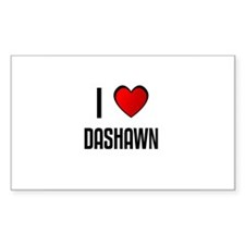 I LOVE DASHAWN Rectangle Decal