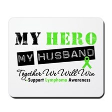 Lymphoma Hero Husband Mousepad