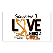 Needs A Cure 2 KIDNEY CANCER Rectangle Decal