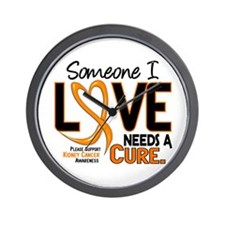 Needs A Cure 2 KIDNEY CANCER Wall Clock