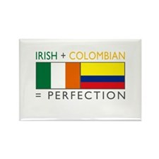 Irish Colombian heritage flag Rectangle Magnet (10