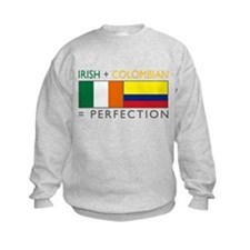 Irish Colombian heritage flag Sweatshirt