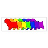Rainbow Norfolk Bumper Car Sticker