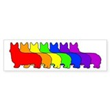 Rainbow Pembroke Bumper Car Sticker