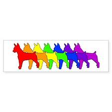 Rainbow Rat Terrier Bumper Stickers