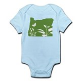 Green Oregon Onesie