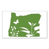 Green Oregon Rectangle Decal
