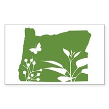 Green Oregon Rectangle Decal