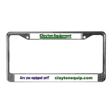 Clayton Logo License Plate Frame