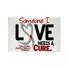 Needs A Cure 2 JUVENILE DIABETES Rectangle Magnet