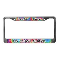 Peace Love US Coast Guard License Plate Frame